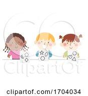 Poster, Art Print Of Kids Complex Shapes Illustration