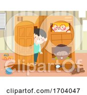 Poster, Art Print Of Kids Indoor Box House Illustration