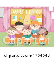 Kids Classroom Writing Illustration