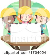 Kids Tree Platform Harness Board Illustration