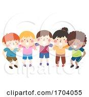 Poster, Art Print Of Kids Team Group Plan Illustration