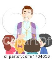 Kids Talk Priest Illustration