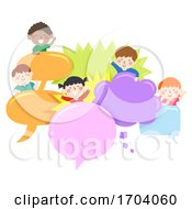 Kids Speech Bubbles Illustration