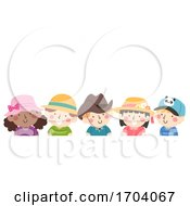 Kids Hat Day Illustration