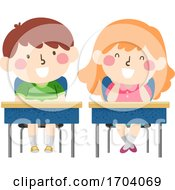 Kids Friend Seatmate Illustration