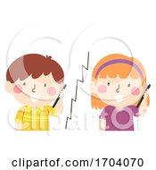 Kids Friend Call Illustration