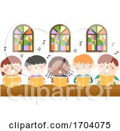 Kids Church Sing Illustration