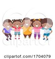 Poster, Art Print Of Kids Black Group Plan Illustration