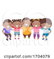 Kids Black Group Plan Illustration