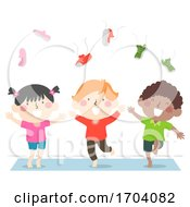 Kids Barefoot Throw Shoes Illustration