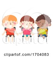 Kids Barefoot Classroom Illustration