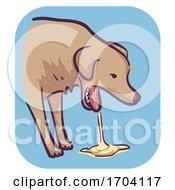 Poster, Art Print Of Dog Symptom Vomit Illustration