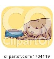 Poster, Art Print Of Dog Symptom Loss Appetite Illustration