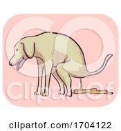 Poster, Art Print Of Dog Symptom Diarrhea Illustration