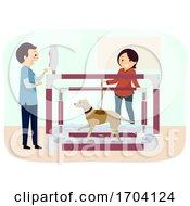 Poster, Art Print Of Stickman Dog Aquatic Therapy Illustration
