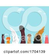 Poster, Art Print Of Farm Animals Raise Hand Illustration