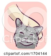 Cat Symptom Purring Illustration