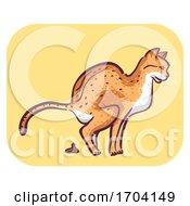 Cat Symptom Frequent Defecating Illustration