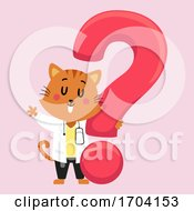 Cat Doc Vet Question Mark Illustration