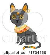 Egyptian Cat Bastet Cat Costume Illustration