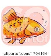 Goldfish Symptom Raised Scales Illustration