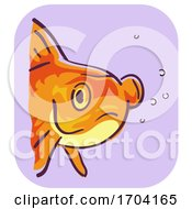 Goldfish Symptom Bulging Eye Illustration
