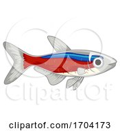 Cardinal Neon Tetra Pet Fish Illustration by BNP Design Studio
