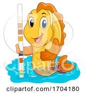 Mascot Fish Water Tester Quality Illustration