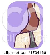 Girl Discolored Skin Sepsis Symptoms Illustration