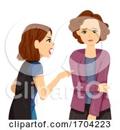 Girls Family Problem Abused Parent Verbal Abuse