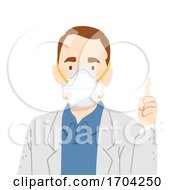 Man Doctor N95 Face Mask Saying Illustration