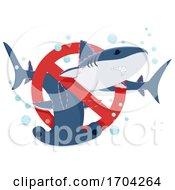 Poster, Art Print Of Stop Shark Finning Illustration