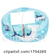 Shark Hold Placard Illustration