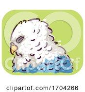 Bird Ruffled Feathers Illustration