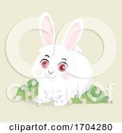 Bunny Flower Shrub Illustration