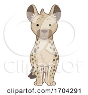 Hyena Front View Illustration