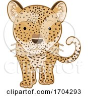 Leopard Front View Illustration