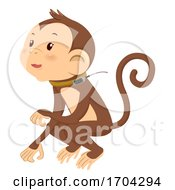 Monkey Tracker Illustration
