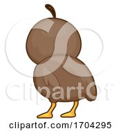 Quail Back View Illustration
