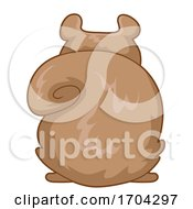 Squirrel Back View Illustration
