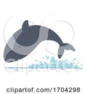 Whale Breaching Send Messages Illustration