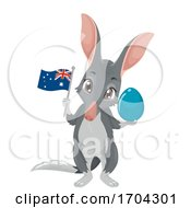 Bilby Mascot Easter Egg Australia Illustration