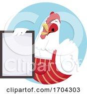 Chicken Shop Owner Board Illustration