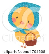 Mascot Easter Chick Sweden Illustration