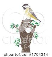 Hand Tree Bird Tit Illustration