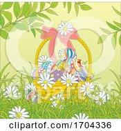 Poster, Art Print Of Easter Basket