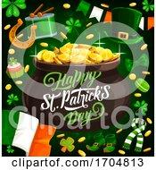 Patricks Day Irish Holiday Pot With Gold