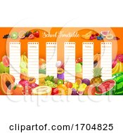 School Timetable Schedule With Tropical Fruits