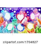 Jewel Crystals School Weekly Timetable Schedule by Vector Tradition SM