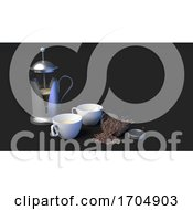 Poster, Art Print Of Coffee Beans On A Dark Background